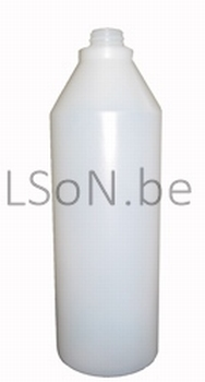 Fles 1000 ml polyethyleen transparant